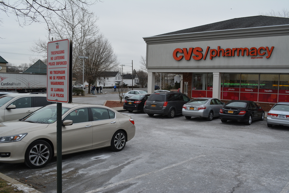 Three men were arrested Sunday after they allegedly trespassed in the parking lot of the CVS store at 111 Depot Road in Huntington Station. Residents say loitering has long been a problem near there – a problem which CVS management said they've taken steps to address.