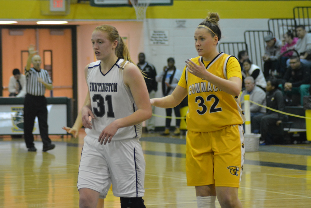 Coming into Wednesday's championship game, Commack's Chelsea Schultz, right, versus Huntington's Heather Forster was one of the contest's most anticipated matchups.