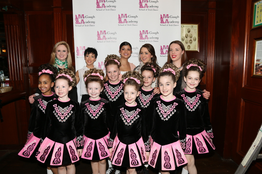 Megan McGough, her team of instructors and a team of dancers from McGough Academy. (Photo/McGough Academy School of Irish Dance)