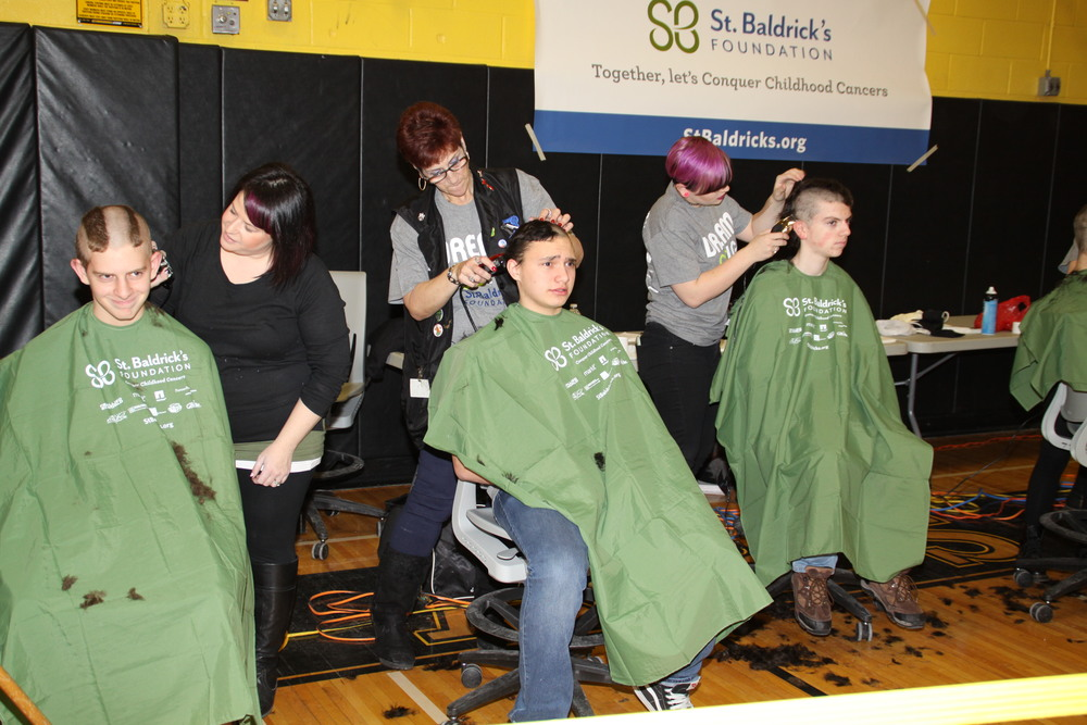 "Organizers said that 100 volunteers and 250 ""shavees"" came out to Commack High School on Friday to participate in the district's annual St. Baldrick's event."