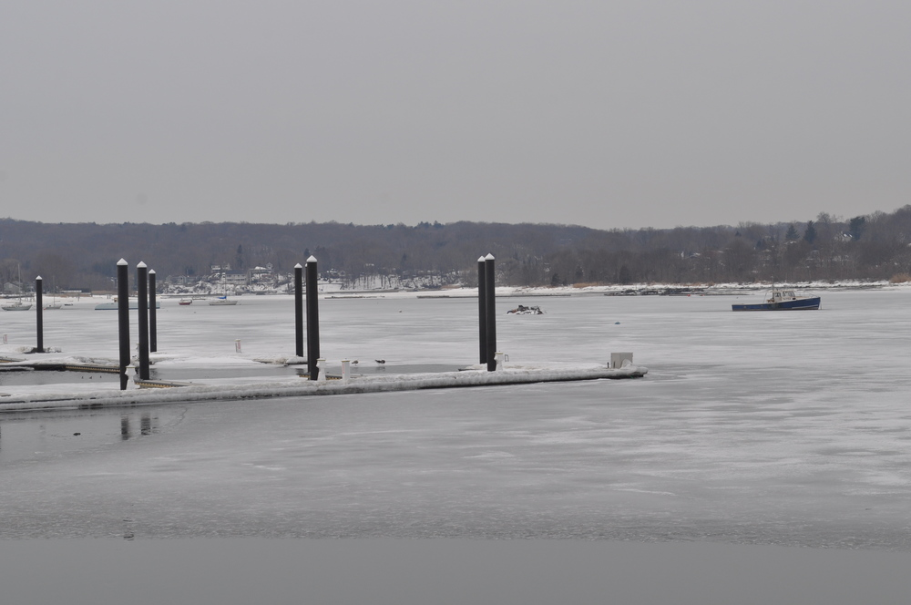 Northport Harbor, pictured Tuesday, is just beginning to thaw.