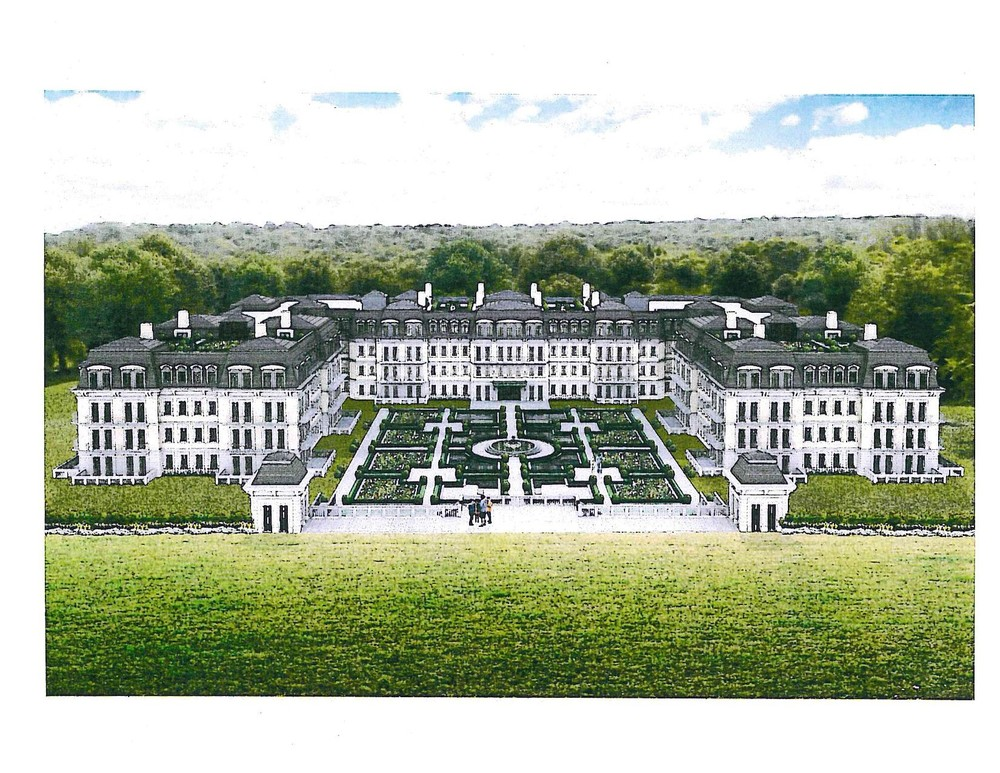 Covenants and restrictions required to enact a zone change clearing the way for the Residences at Oheka, pictured in a rendering, have been filed.