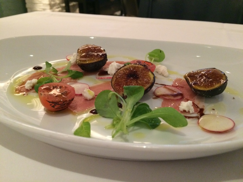 The caramelized figs plate is a light, fresh way to start your brunch experience.