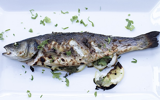 The freshest seafood, like the whole bronzino pictured, are Neraki's specialties.