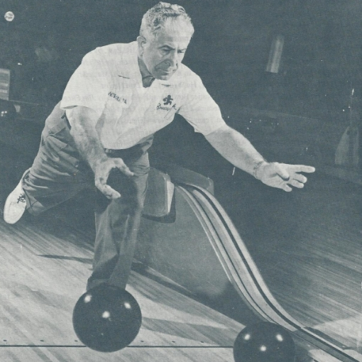 Wheaties' newest spokesman, bowling superstar Andy Varipapa, showing off his ambidextrous skills, was a regular at Century Lanes for decades and a Huntington resident.
