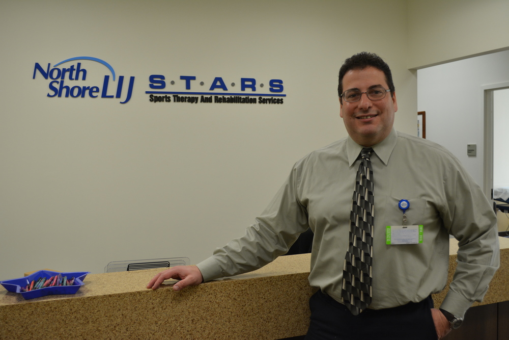 Huntington resident Salvatore DiMatteo is a licensed physical therapist who just opened up North Shore-LIJ's Sports Therapy And Rehabilitation Services Huntington office on April 1.
