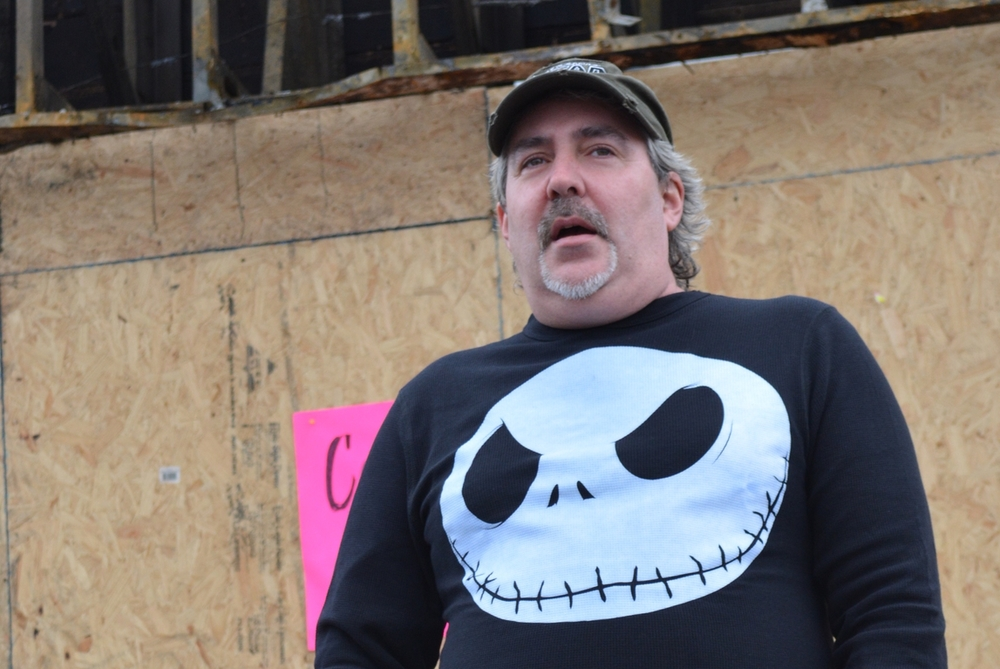 Michael Bradley, on Jan. 19, stands outside of what used to be his longtime comic book shop in Huntington Station, Collectors Kingdom.