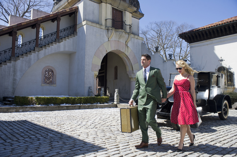 Consuelo Vanderbilt Costin's latest music video features the Vanderbilt Mansion, courtyard, and antique cars. (Photo /Vital Agibalow)