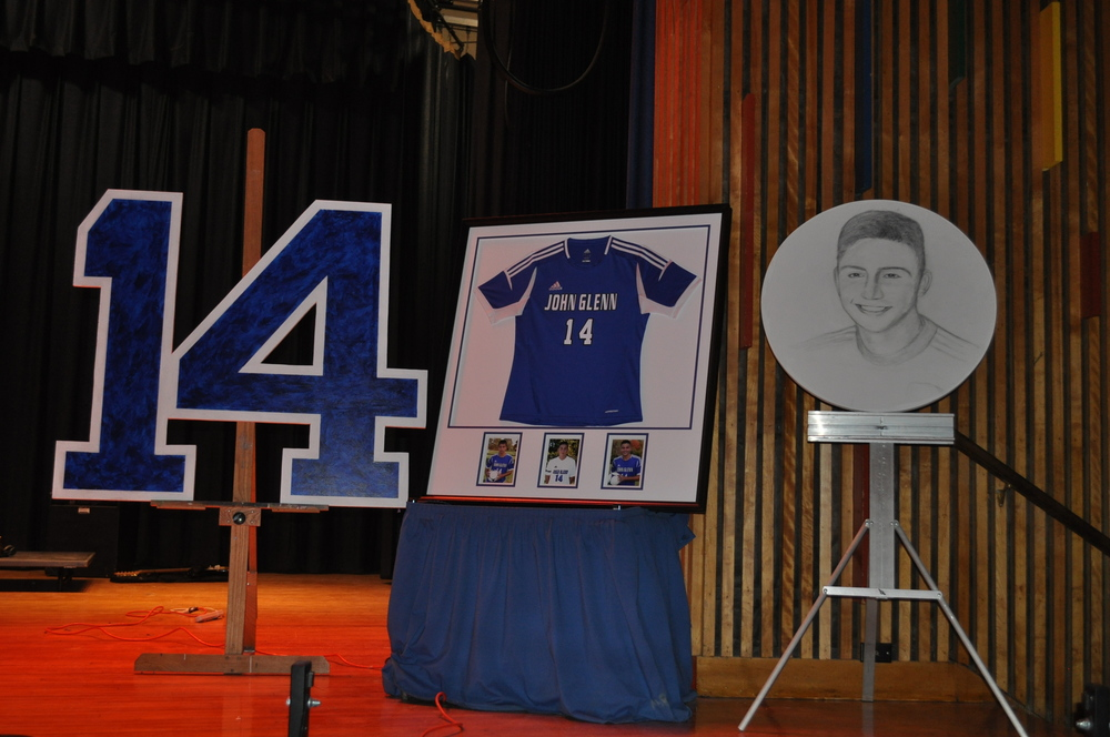 The presence of Sean Urda looms large Saturday night during a memorial concert Saturday at John Glenn High School.