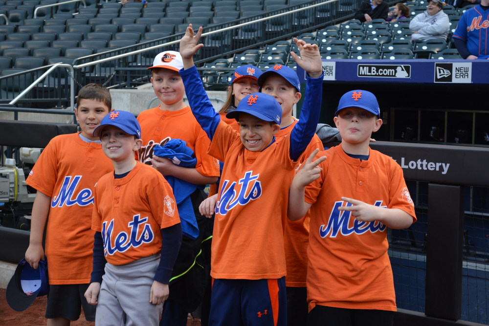 Members of the Half Hollows Little League were taken to Cit Field to watch the New York Mets play ball.