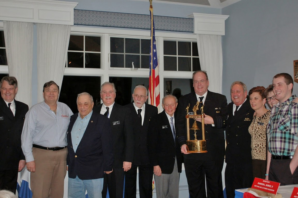 Join the camaraderie of the Neptune Sail and Power Squadron. From left: Commander Andrew Whitely, Tony Posun, Don LaGreco, Administrative Officer Gene Sicard, Phil Quarrels, Paul Couluris, Education Officer Vince Gerretz, Executive Officer Ron Friedmannn, Terry Sicard and Angela Whitely.