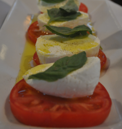Imported Italian mozzarella di bufala is a light, satisfying starter.