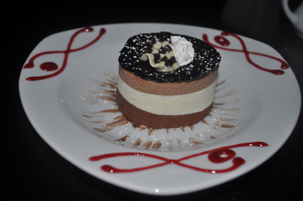 Tricolor mousse is a tasty way to finish at XO.