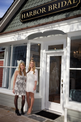 Sisters Leigh, left, and Tori Mardovich opened Harbor Bridal to fill a boutique bridal void in their hometown.