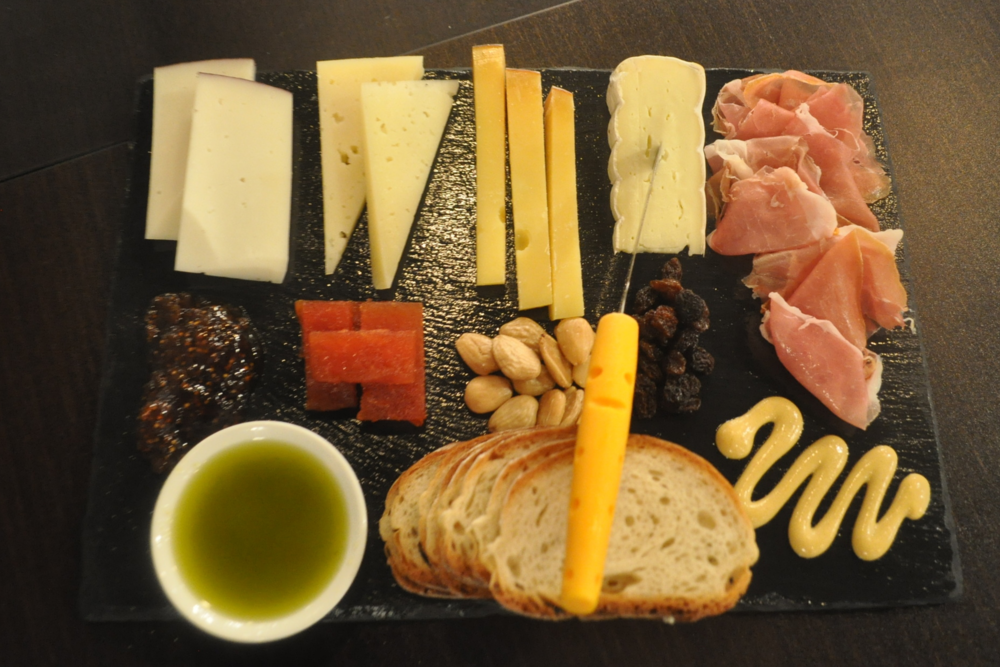A sample of one of Ideal Element's expertly prepared cheese plates.
