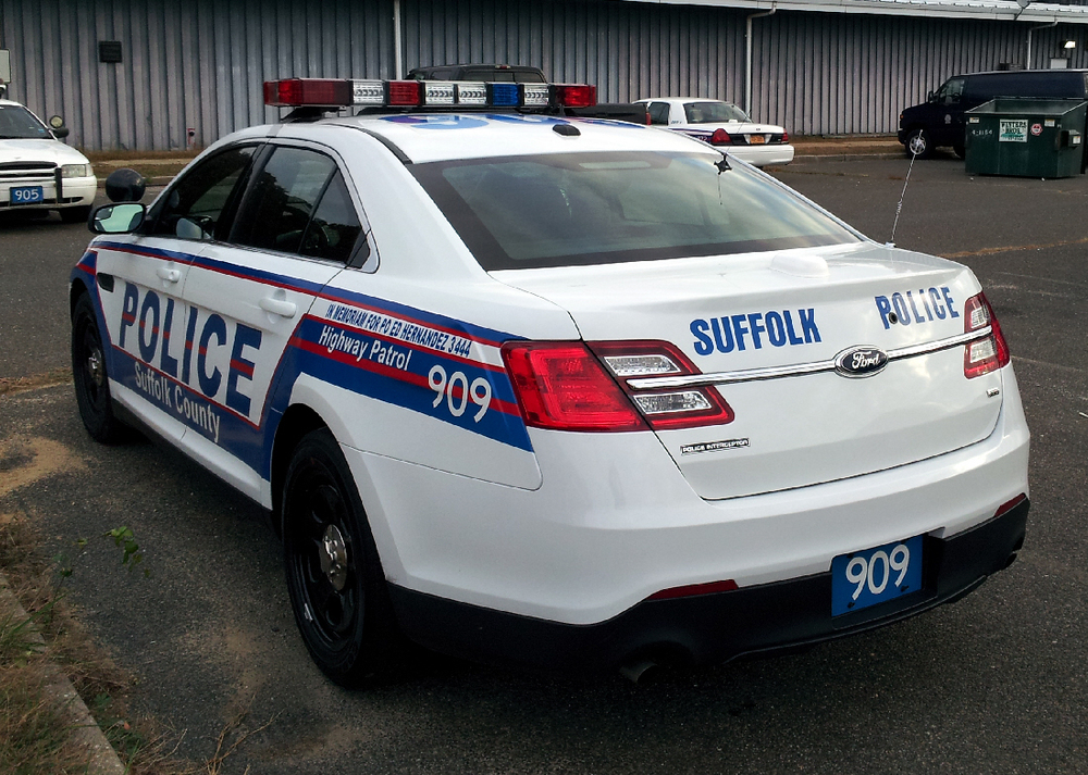 Suffolk County police officers responded to a domestic incident Wednesday afternoon and arrested one Huntington Station man.
