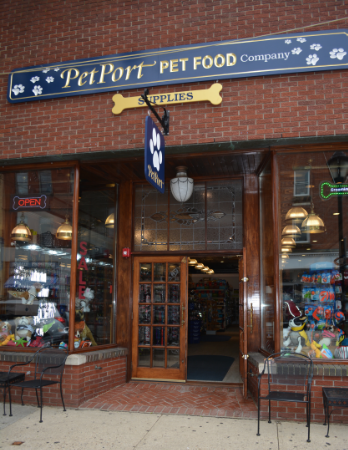 Now located at 40 Main St. in Northport, PetPort is just steps away from the village's pet-friendly park.