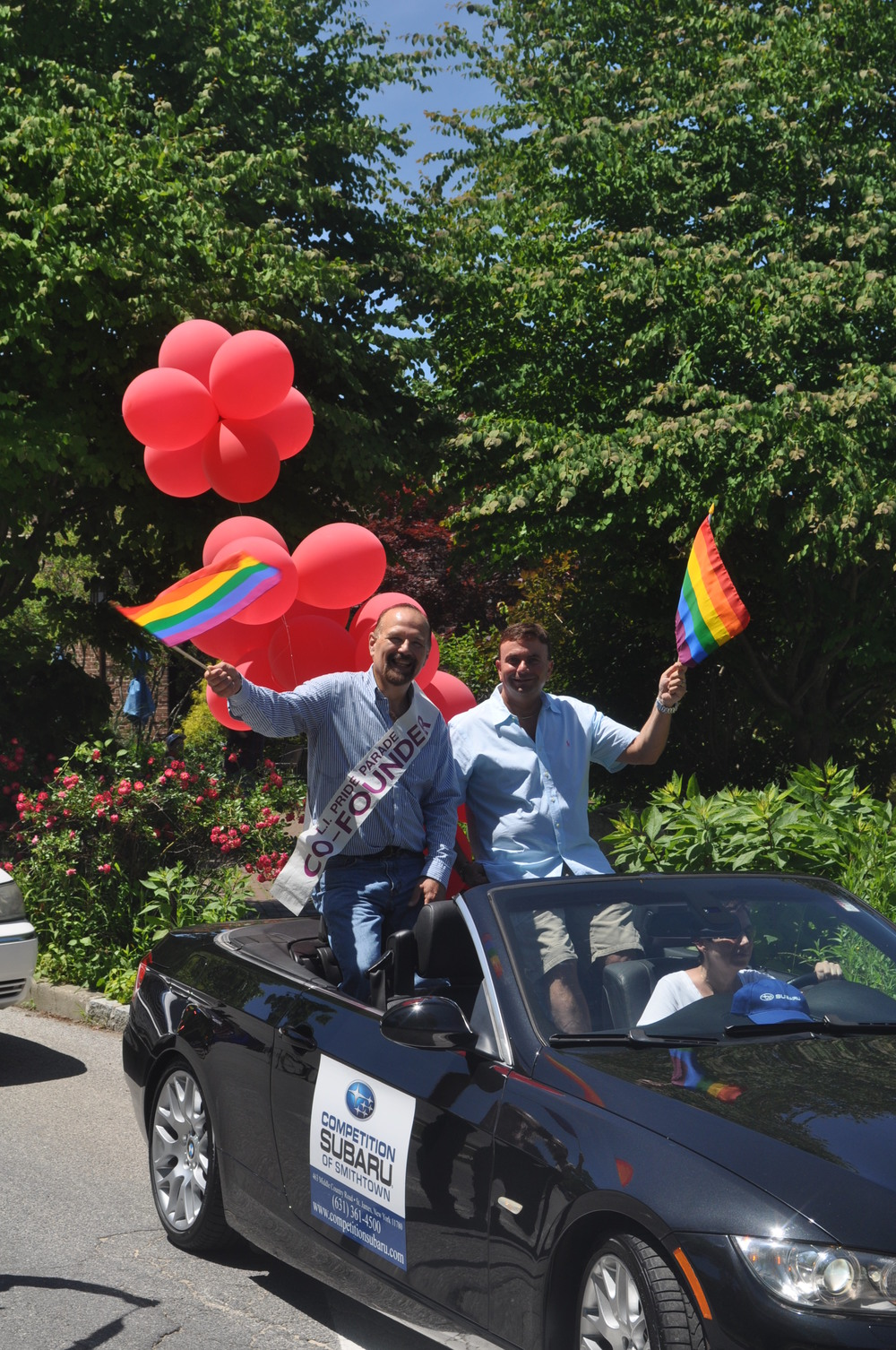 Long Island Pride Parade co-founders Steve Henaghan and David Kilmnick were grand marshals, as was fellow co-founder Jimmy Pizzo.