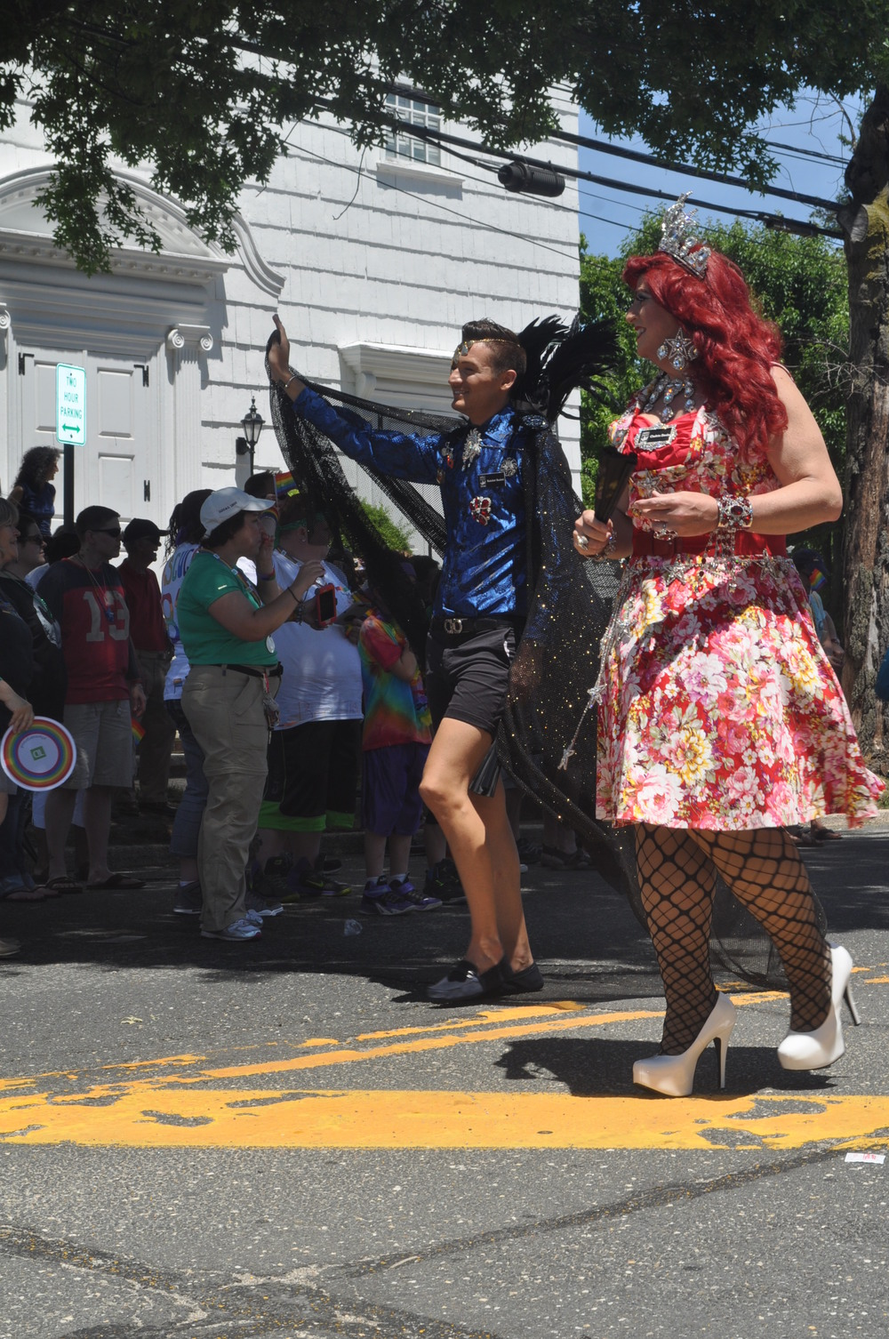 Daring fashions and eye-popping color filled the streets of Huntington village and later, Heckscher Park, on Saturday afternoon.