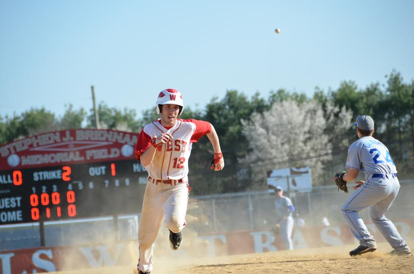 Hills West senior Josh Wende, pictured playing for the Colts baseball team, is headed to Dartmouth College in the fall.