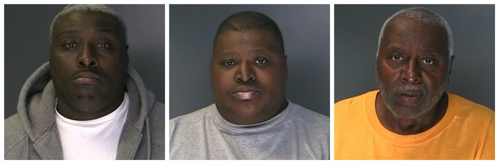 Tracy Watkins, 42, who police said is a confirmed member of the South Side Posse gang, and his brother, Zachary Watkins Jr., 46, along with their father, Zachary Watkins Sr., were arrested on June 25 on drugs and weapons charges following a raid on their Huntington Station station home.