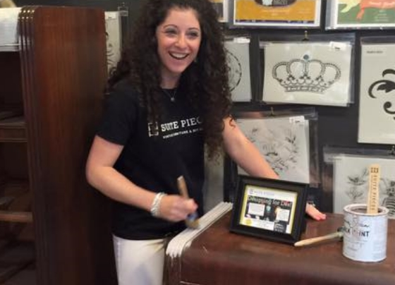 Suite Pieces founder Amanda Peppard, pictured at her most recent grand opening June 24, said her do-it-yourself business has enjoyed rapid growth in the last four years, which includes a new