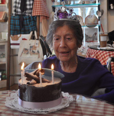 Margaret Norton, a Cold Spring Harbor schoolteacher and fixture in the community, died last week at the age of 105. Pictured, her 103rd birthday celebration in 2013.
