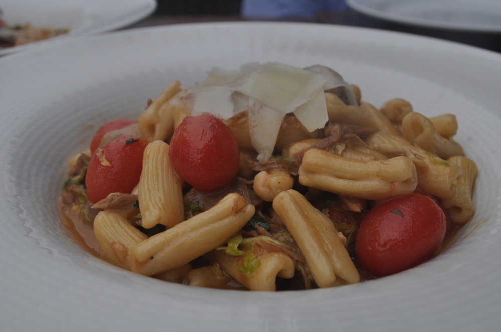 Duck confit cavatelli is a light pasta choice.