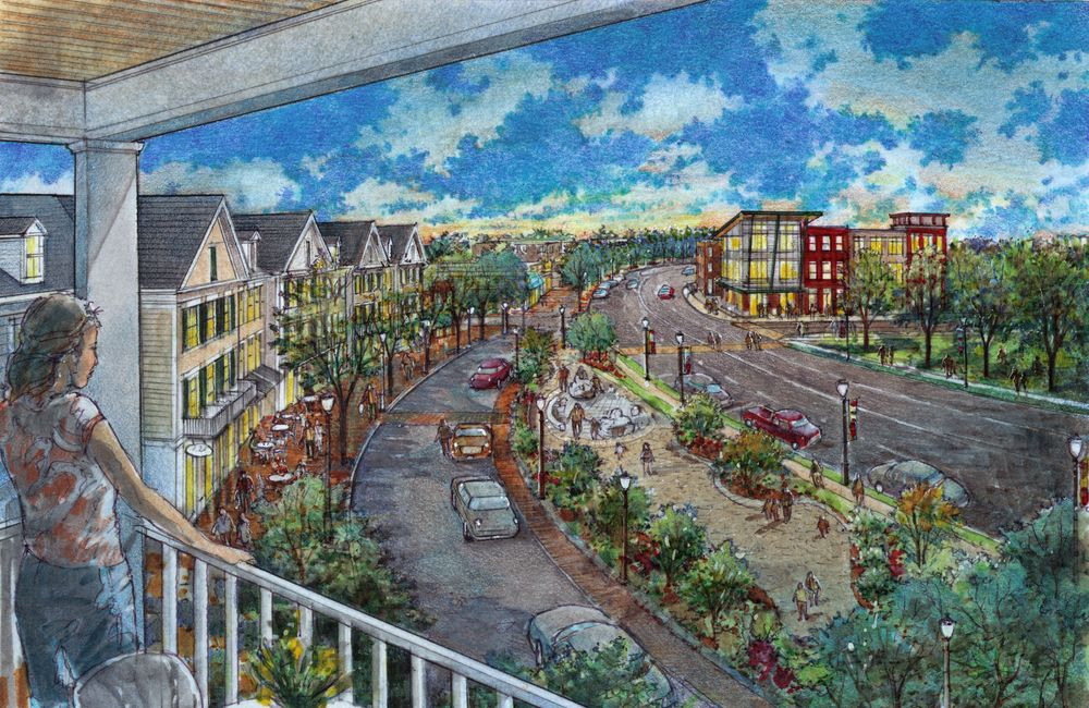 The town is awaiting feedback from the state before acting on the first piece of Renaissance Downtown's Huntington Station revitalization plans.