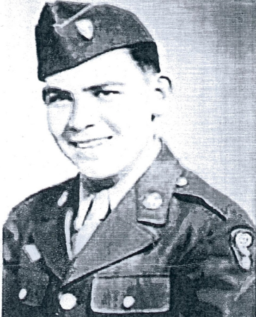 A young Meyer Steinberg, pictured during his service as a member of the U.S. Army's Special Engineer Detachment.