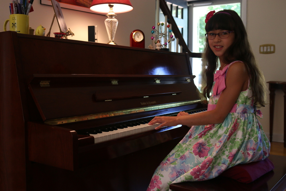 Caterina Dottino, 9, of Huntington, performed in the Young Artists Piano Showcase at Carnegie Hall on June 28.