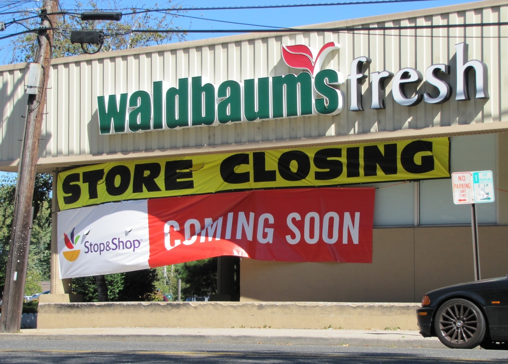 Huntington village Waldbaum's is set to close on Oct. 8 and will reopen as Stop & Shop on Oct. 16, according to a store clerk. Long Islander News