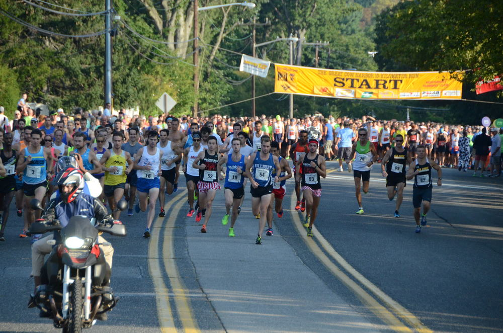More than 5,000 runners participated in the Great Cow Harbor 10K Run on Saturday. Photo by Island Photography.