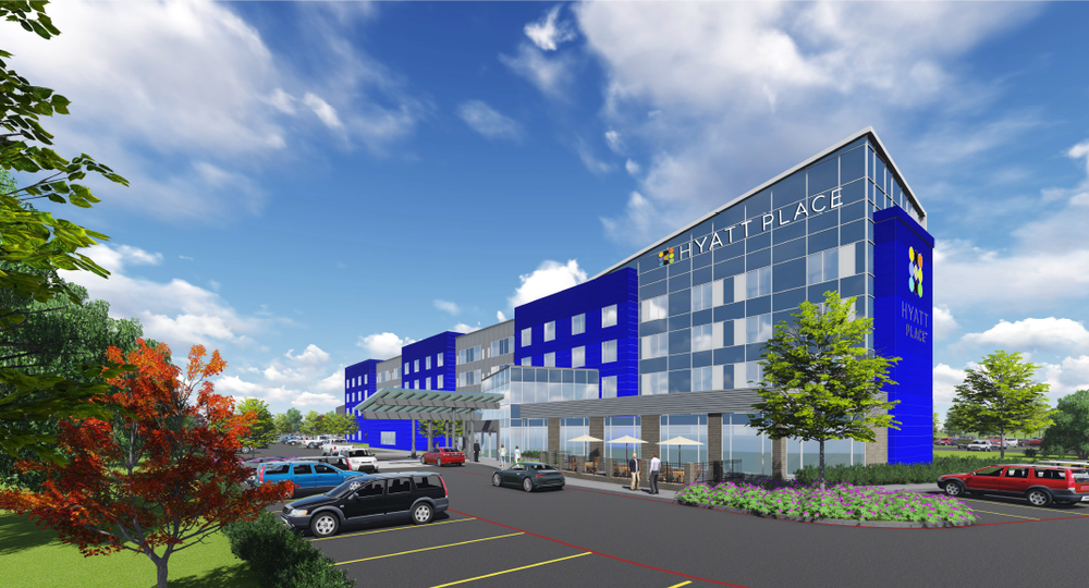 The Huntington town board was expected to vote Tuesday on a decision to delay a zone change necessary to move forward a proposal to build a 160-room, four-story Hyatt Place hotel in Melville.