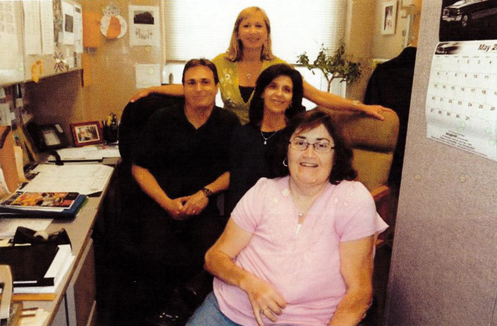 Peter Leodis, Donna Rossetti and Donna McNulty pictured with co-worker and friend, Debra Cotugno.