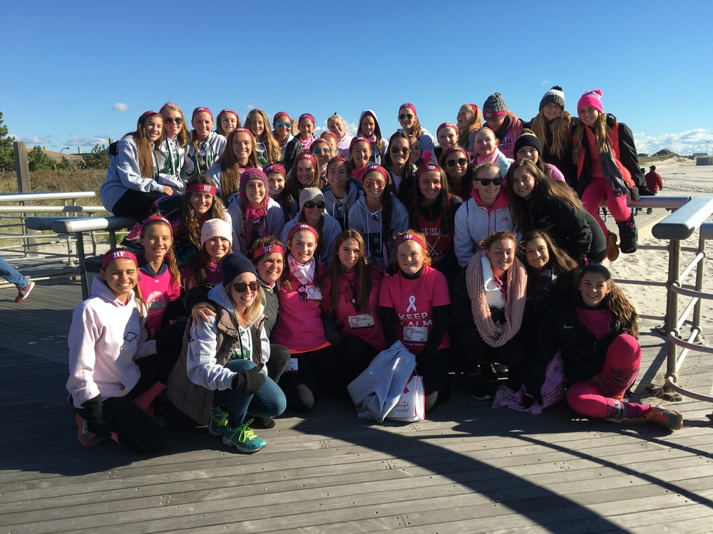 The Harborfields field hockey program raised $3,175 for Sunday's Making Strides Against Breast Cancer walk at Jones Beach.