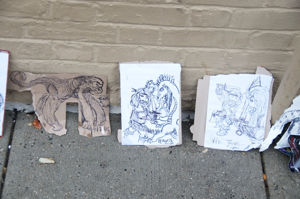 A small selection of original artwork created by Huntington artist Travis Hunt.