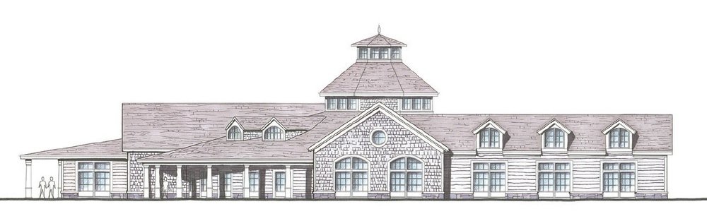 A rendering depicts one of several structures proposed as part of a 237-unit senior independent living community planned by the Gurwin Jewish Geriatric Foundation in Commack.