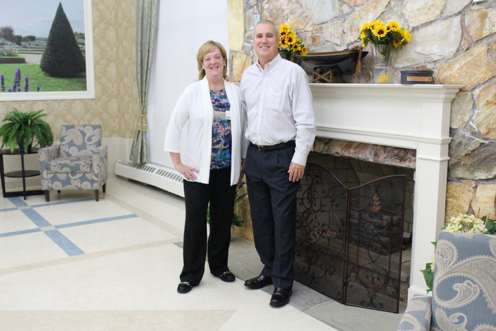 Geraldine (Gerry) Albers, administrator, and Joseph Carillo, owner, director and CEO of Carillon Nursing and Rehabilitation Center, provide a lively and homey atmosphere for residents.