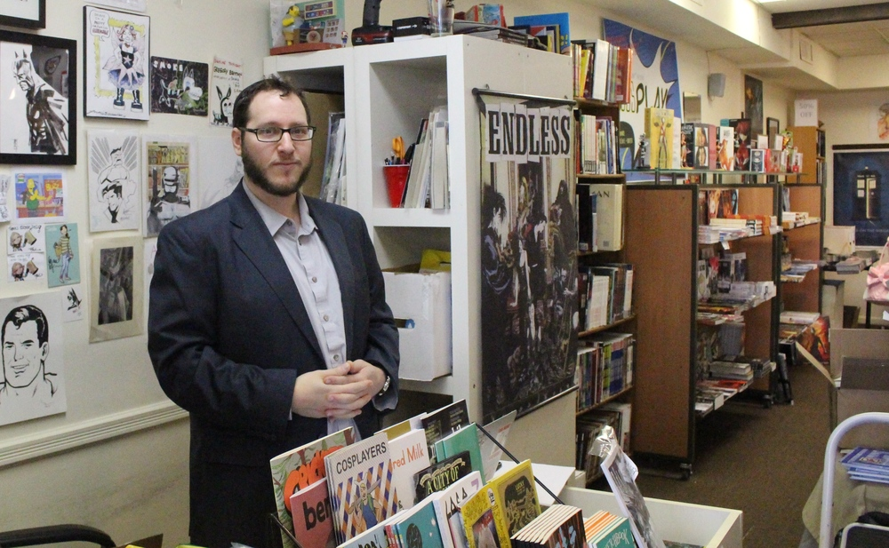 At Escape Pod Comics on Main Street in Huntington, owner Menachem Luchins says comic books are for everyone.