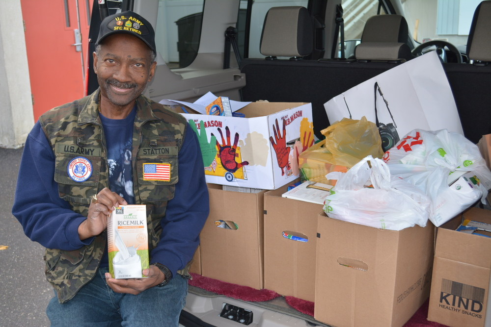 Greenlawn resident, firefighter, U.S. Army veteran and three-time cancer survivor Al Statton is collecting non-perishable food items and personal necessities for homeless veterans sheltered at the Salvation Army's Northport Veterans Residence, which is located on the ground of the Northport Veterans Affairs Medical Center.