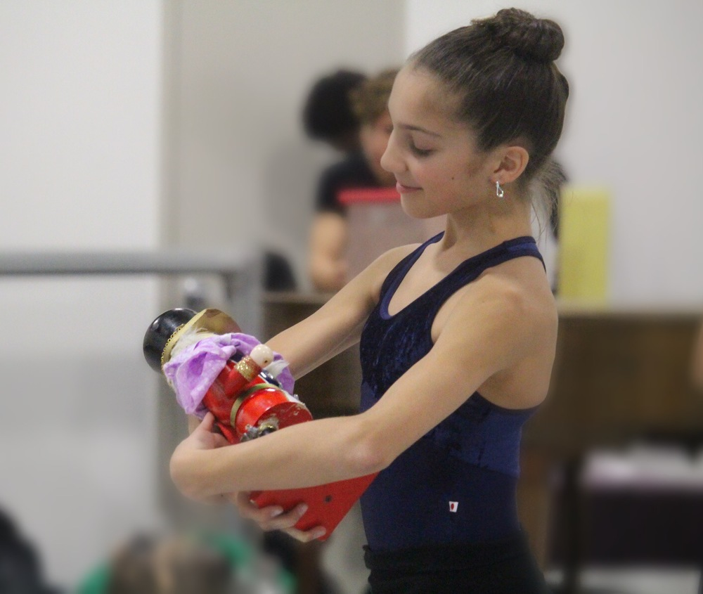 "Ballet dancer Sarah Gavilla, 15, rehearses as Clara in Eglevsky Ballet's production of ""The Nutcracker."""