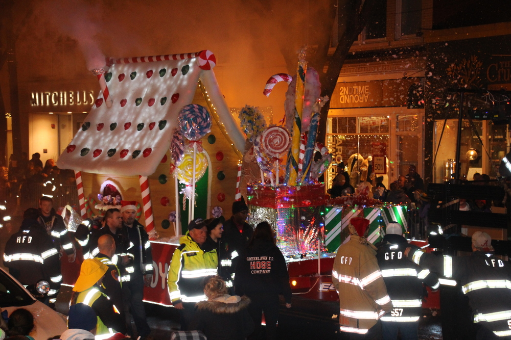 The Greenlawn Fire Department won best float in the fire department category. The honor comes with bragging rights among local fire departments and the honor for someone in the department to play Santa in next year's parade.