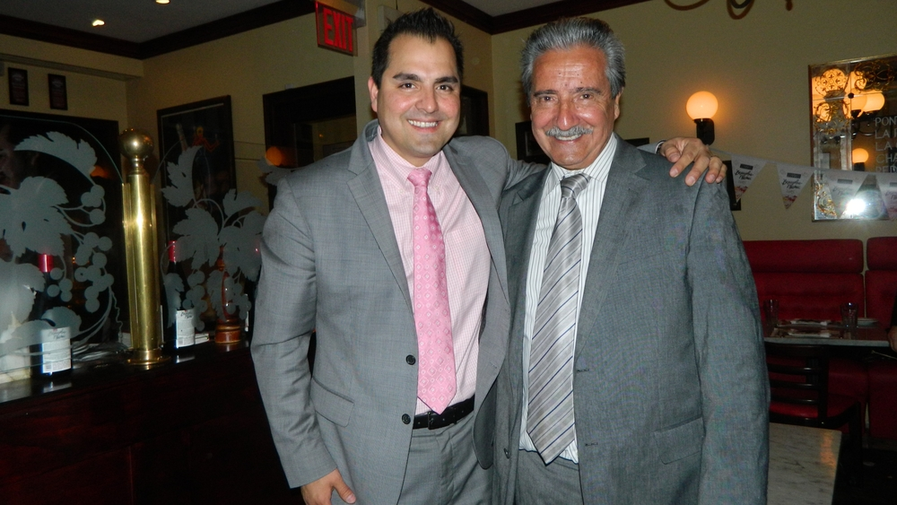 Manager Gabriel Garcia with his father, Hugo Garcia, a co-owner of the French bistro.