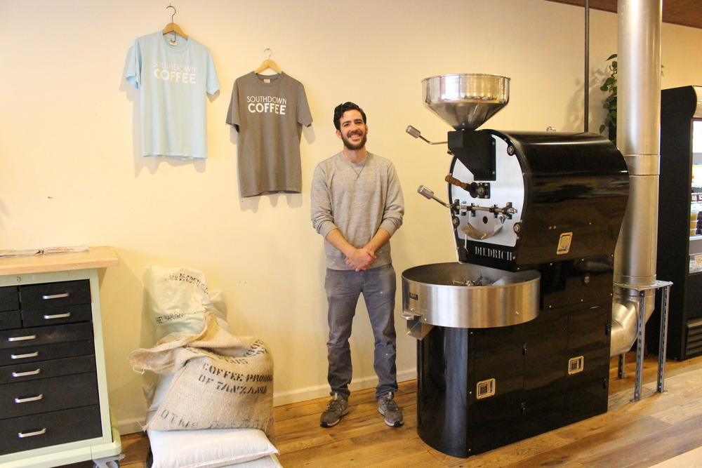Mark Boccard, owner of Southdown Coffee, provides only organic coffee and high-quality ingredients for egg sandwiches and burritos.