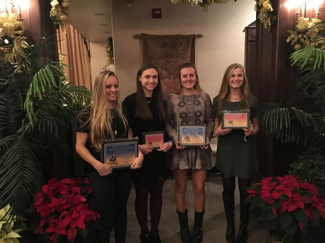 Irina DeSimone, Cara Sorrentino, Emma DeGennaro and Kelly Palladino with their awards.