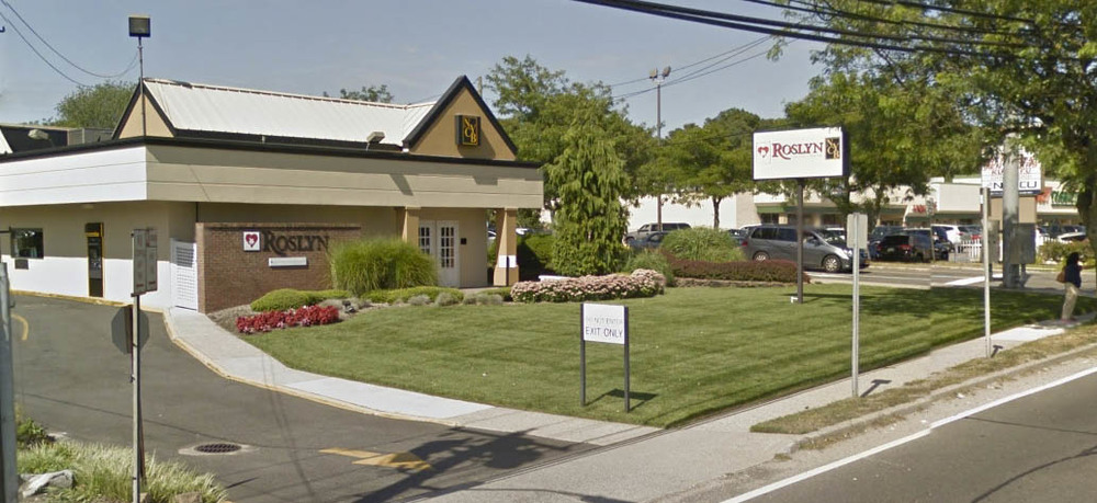A man walked into the Roslyn Savings Bank at 363 E. Jericho Turnpike in Huntington Station and slipped a note to a teller demanding cash, police said.