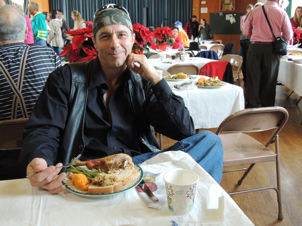 "This was William Lorenz's first time at Gloria Dei's Christmas dinner. He called it ""a Christmas miracle."""