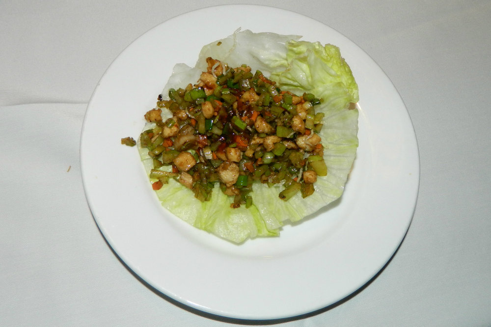 The chicken soong lettuce wrap appetizer at Mandarin Gourmet.