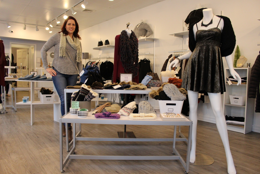 Laurie Burlison is owner of Lot 356 Fashion Boutique in Huntington, which she said has an edgy, casual style.